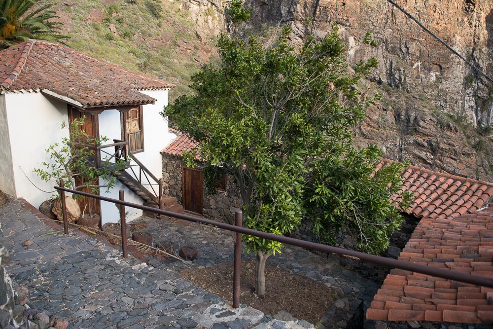 El museo de Masca está situado justo detrás de la plaza