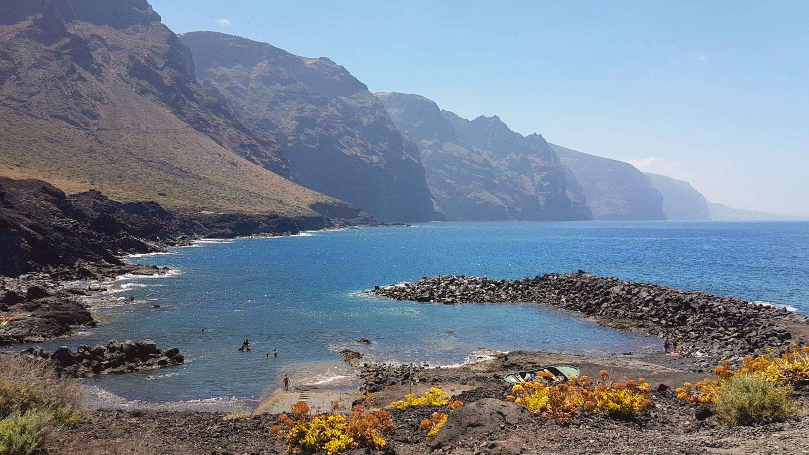 Playa de La Ballenita en Punta de Teno