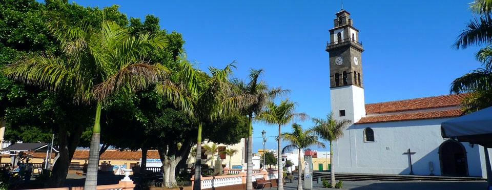 Place et église de Los Remedios à Buenavista del Norte
